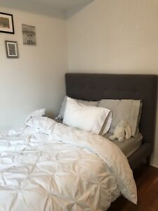 West Elm Bed Frame & Headboard