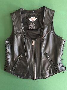 Harley Davidson Leather Vest - Ladies