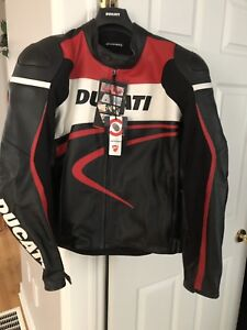 BRAND NEW Ducati Leather Motorcycle Jacket