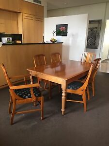 Antique Pine Dining Table & Chairs Newcastle East Newcastle Area Preview