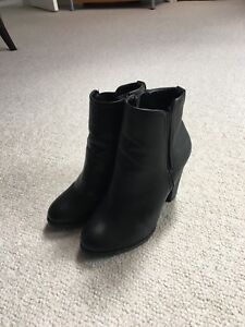 Never worn black heeled ankle boots!