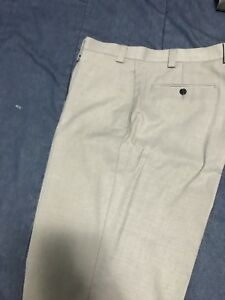 CK Light Gray Fitted Dress Pants 36x32