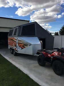 Enclosed motorbike trailer/camper/toy hauler