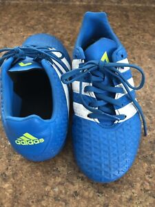 Boys Adidas cleats size 2 and size small adidas shin guards