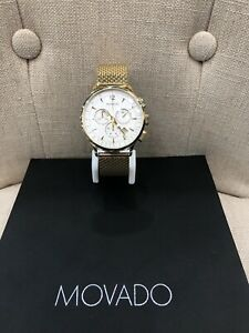 Circa Movado Chronograph Ivory Dial Men's Watch