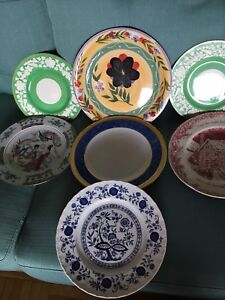 Eight old decorative plate