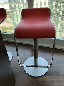 3 Modern Red height adjustable bar stools