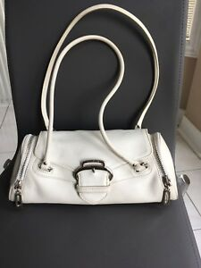 Cole Haan white leather bag