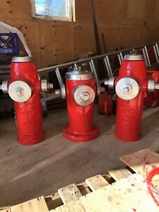 Old refinished fire hydrants