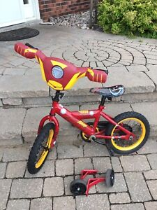 Boys bike (Ironman) with training wheels