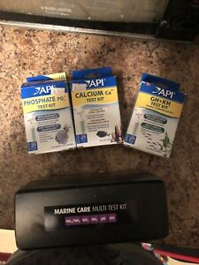 Saltwater fish tank test kit and accesories