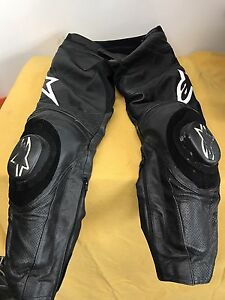 Alpinestars Black Leather Racing Pants Size 36 Mens