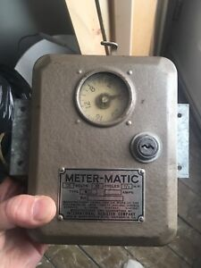 Meter-matic vintage timer coin operated type m22