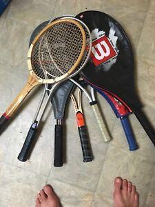 Tennis rackets!