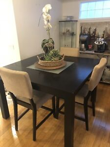 Square table and 6 chairs