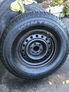 265-75-16 snow and studded tires on gm rims