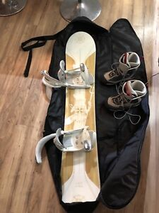 Firefly snowboard and gear