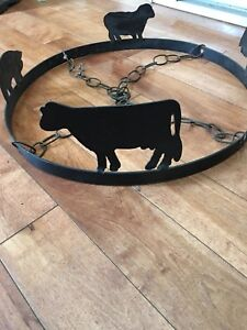Made in NS. Wrought iron pot rack. $35
