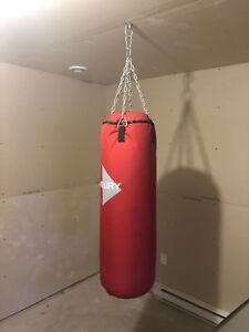 Punching heavy bag including gloves