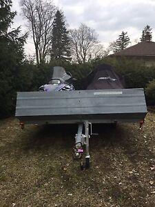 Double snowmobile trailer