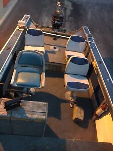 Sylvan boat with mercury 40 outboard