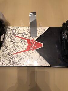 Firefly snowboard and kick in bindings