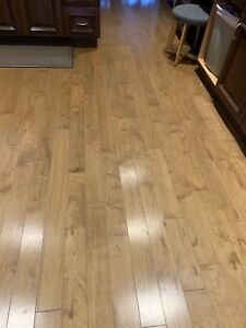Hard wood click flooring GREAT CONDITION!!