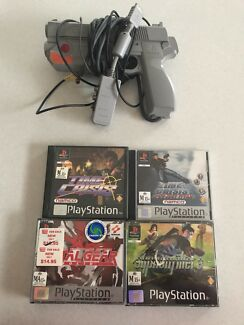 Sony vintage Lot PlayStation 1 PS1 time crisis metal gear solid