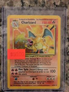 BASE SET CHARIZARD POKÉMON CARDS IN PLAYED SHAPE PSA CGC COMICS