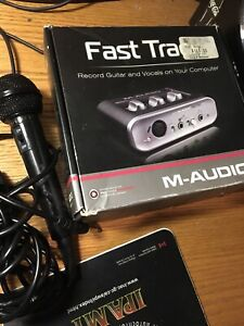 M-Audio Fasttrack Preamp and mic
