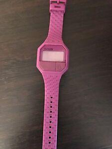 Purple Rubber Nixon Watch