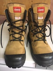 Women's size 8 or men's size 6 steel-toe work boots