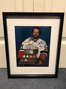 New York islanders Billy Smith signed and framed photo