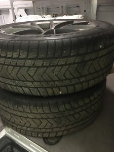 Set of four Pirelli Scorpion winter tires on rims for sale