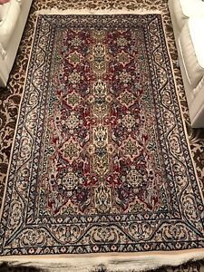 Persian handmade wool silk rug