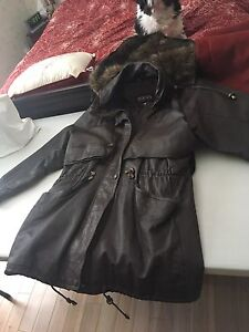 Miropa real leather coat