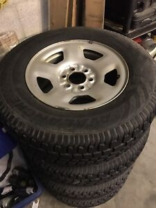 Truck winter tires on steel rims, f150