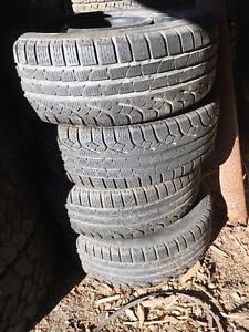 """SET OF 4 16"""" 5x100mm steel rims and 205/55R16 PIRELLI TIRES"""