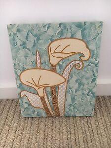 Flowers canvas artwork Mornington Mornington Peninsula Preview