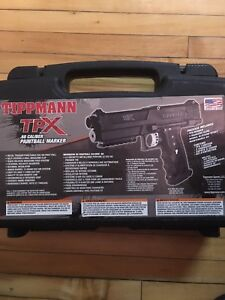 Tippmann TPX paintball marker, remote air line and more!