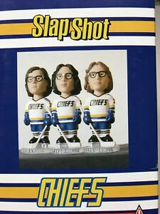 Slap Shot Hanson Brothers Bobble Heads, very collectible