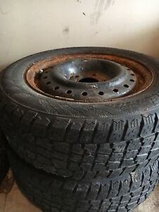 195/65/R15 two snow tires with rims