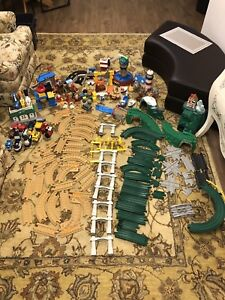 Big collection of fisher price train set