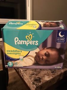Brand New - Pampers Swaddlers Overnight - Size 3 **$20**