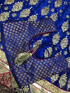 Royal Blue heavy Lengha! new in style