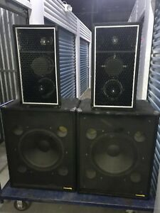 """Community PA speakers - 3-way tops and 18"""" Subs"""