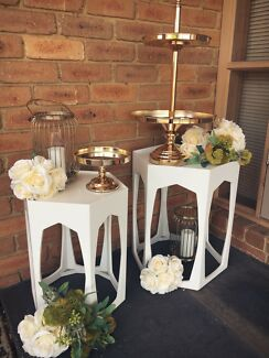 HEXAGON PLINTHS FOR HIRE