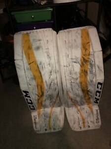 Ccm premier 1.5 goalie pads with blocker and glove