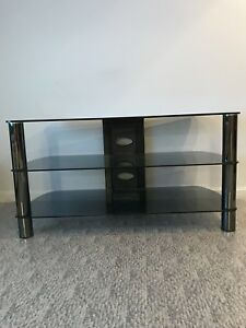 Glass entertainment tv stand