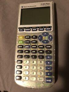 TI-83 Plus Graphing Calculator - Rare Silver Edition